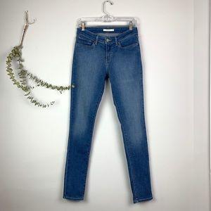 Levi's 711 Skinny Mid-Rise Medium Wash Jeans